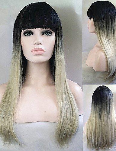 WIGSTYLE Pelucas de la manera pelucas baratas 1b de dos tonos rubia ombre moda de celebridades