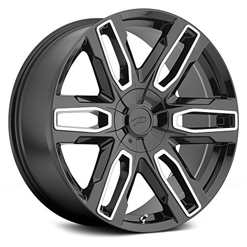 Pacer Benchmark 20 Black Wheel / Rim 6×135 & 6×5.5 with a 25mm Offset and a 106.1 Hub Bore. Partnumber 787MB-2935+25