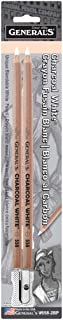 product image for General Pencil 5582BP Charcoal White Pencils 2/Pkg-2B