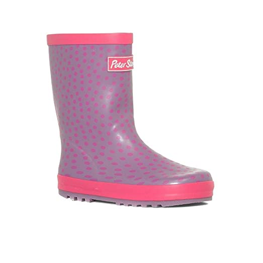 Spotted Trim Junior Wellies
