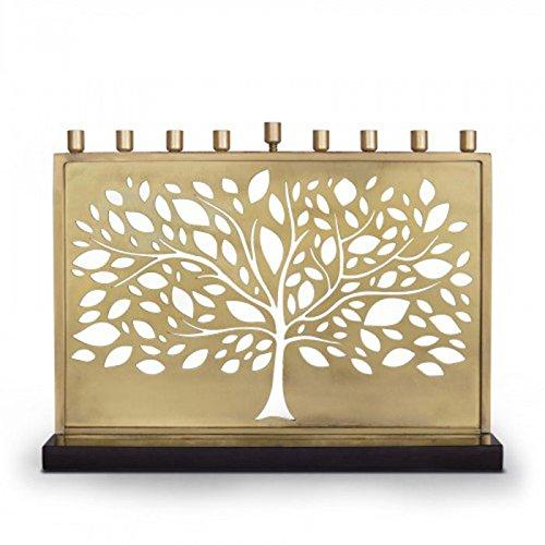 Brass laser Tree Menorah - Laser Menorah
