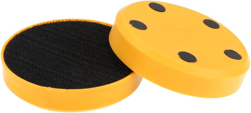 Baoblaze 2pcs Skateboard Longboard Sliding FreeRide Gloves Replacement Spark Flicker Palm Pucks for Speed Reduction 80mm Dia.