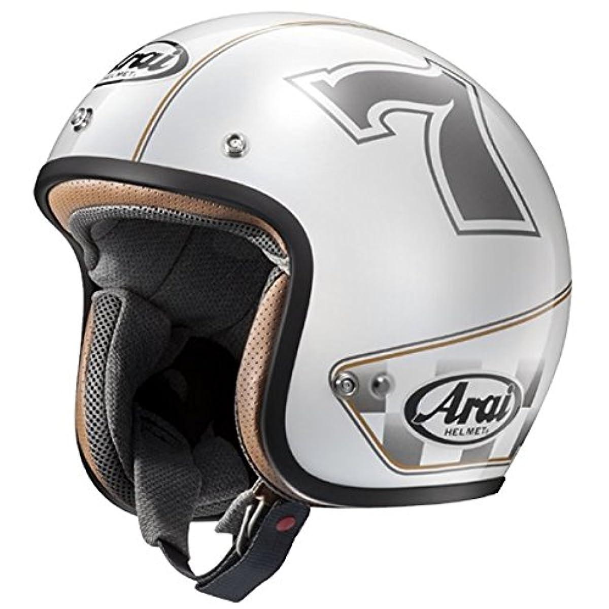 [해외] 아라이 오토바이 헬멧 제트 CLASSIC MOD CAFE RACER 화이트 61-62 XL
