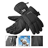 Jogoo Winter Warm Ski Gloves, Thinsulate snowboarding gloves, Waterproof & Windproof with Zipper and Pocket