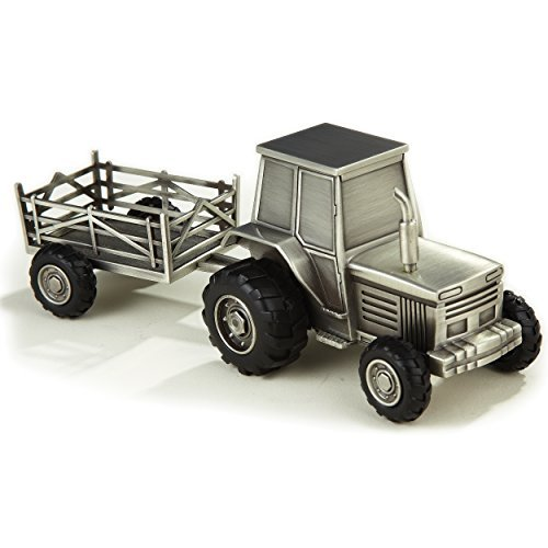 Pewter Tractor Bank - Elegance Pewter Plated Tractor Bank by Elegance