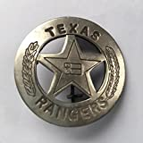 Costume Badge Silver Texas Ranger Prop