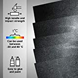 5 Pack 12x12x.062 ABS Plastic Sheets, Moldable
