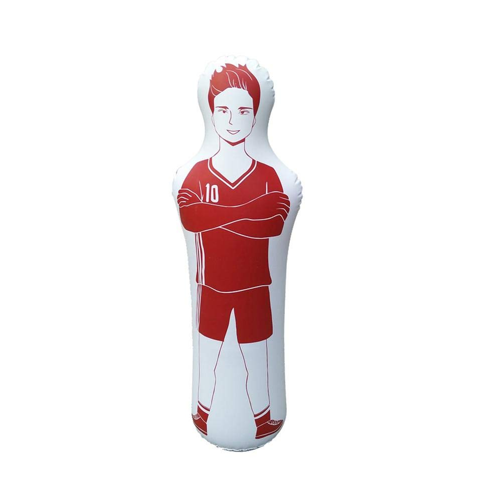 Chalkalon Football Training Mannequins Soccer Inflatable Training Dummy For Dribbling Wall Passing Drills 160CM