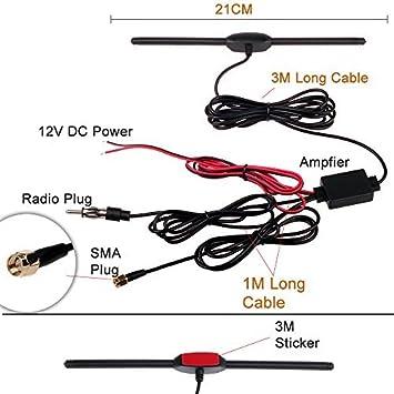 antenna per segnale radio e TV per auto HitCar amplificatore di segnale per autoradio