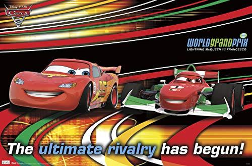 Trends International Cars 2-Racing Rivals Mount Bundle Wall Poster, 22.375