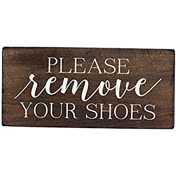 Well-known Amazon.com: Please Take Off Your Shoes Sign: Home & Kitchen QF16