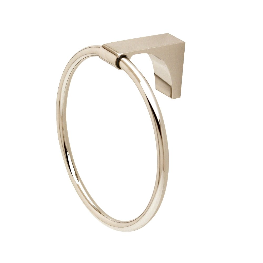 Alno A6840-PN Luna Towel Rings Transitional, Polished Nickel, 6''