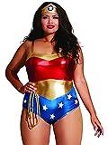 Dreamgirl Women's Plus-size Plus Size Superhero-themed Teddy, Multi, OSQ