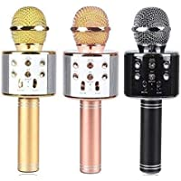 Gadgetbucket WS-858 Rechargeable Wireless Karaoke Bluetooth Microphone With Inbuilt Speaker with Audio recording For All IOS/Android Smartphone (Color May Vary)