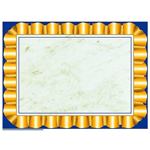 Hayes School Publishing VA669 Gold Ribbon Border- Set of 50 8.5'' X 11'' Certificates