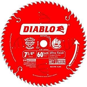 Freud D0760X Diablo Ultra Finish Saw Blade ATB 7-1/4-Inch by 60t 5/8-Inch Arbor