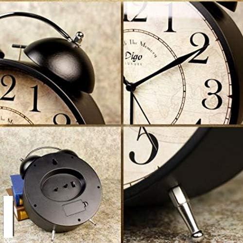 GYHJG R/éveil Bureau D/écoration du Salon Muet Horloge De Table R/étro Horloge Europ/éenne Montre Creative Table Horloge Ornement Horloge De Table Noir Surdimensionn/é 8 Pouces