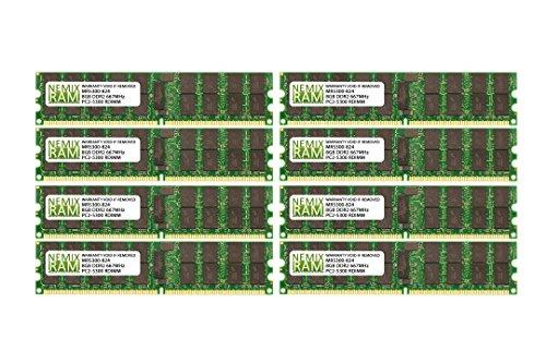 64GB (8x8GB) DDR2-667MHz PC2-5300 ECC RDIMM 2Rx4 1.8V Registered Memory for Server/Workstation