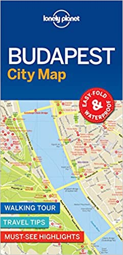 1st Edition Lonely Planet Budapest City Map 1st Ed.