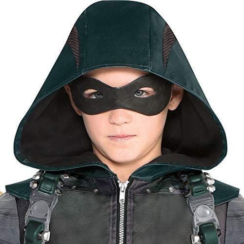 Disfraz De Flecha Verde Para Niños Incluye Un Mono Una Máscara Un Silenciador Y 2 Muslos Clothing
