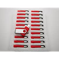 20 2GB Flash Drive - Bulk Pack - USB 2.0 2 GB Swivel Red Color