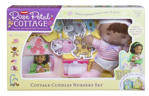 Cottage Rose Accessories Petal (Playskool Rose Petal Cottage Cuddle Nursery Set - African American)