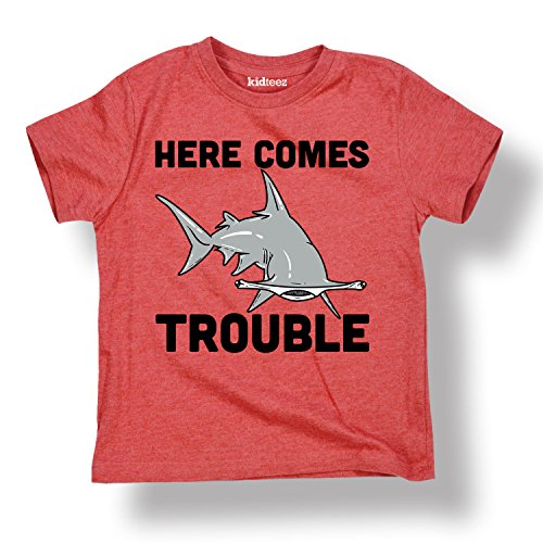 Here Comes Trouble, Shark-Youth Short Sleeve Tee Shirt