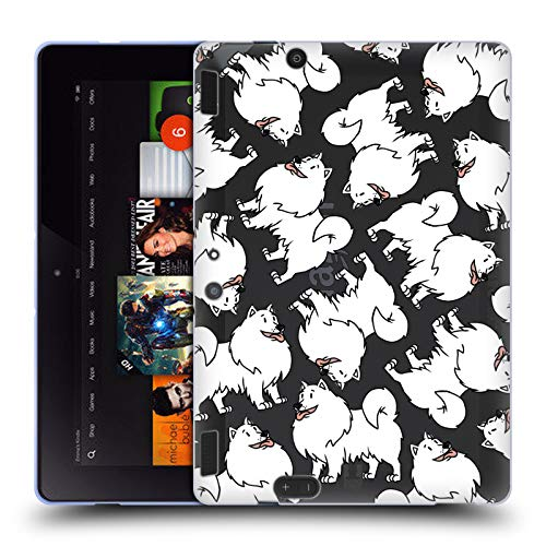 erican Eskimo Dog Breed Patterns 13 Soft Gel Case for Amazon Kindle Fire HDX 8.9 ()