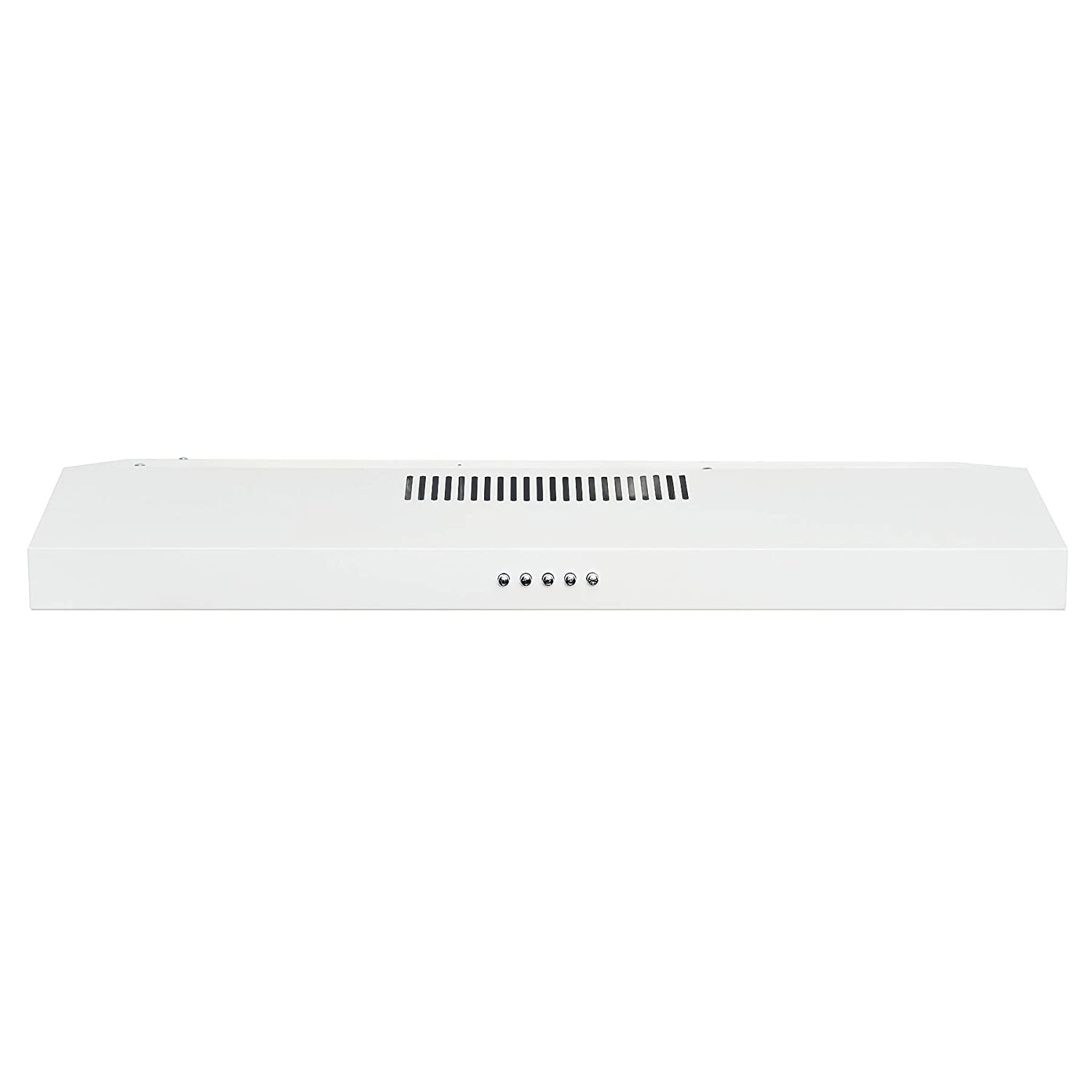 AKDY 30 Under Cabinet White Painted Finish Stainless Steel Push Panel Kitchen Range Hood Cooking Fan w//Carbon Filters