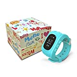Azul Rosa Verde Monitor Children GPS Tracking An-ti Lost Finder SOS Q50 Smart Watch Safety Tracker Niños Reloj Inteligent Whith SIM Card Support Android IOS (Azul)