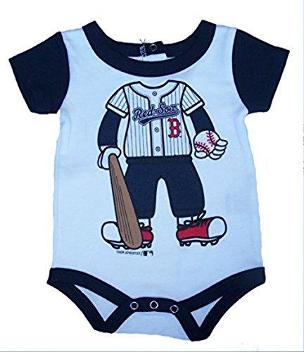 (Boston Red Sox Player In Uniform Infant Onesie Size 12 Month Bodysuit - Navy & White Creeper)