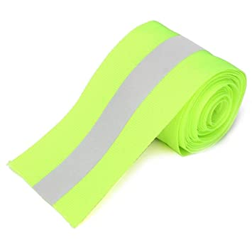 Silver Reflective Tape Safty Strip Sew on Synth Fabric 3 Meters Orange//Green - Green MagiDeal STK0151001321