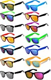 Wholesale Bulk Colored Mirrored Lens Sunglasses 14 pairs OWL .