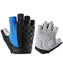 ROCKBROS Spider Cycling Gloves Half Finger Sports Gloves Padded Black