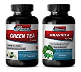 Product review for antioxidant anti aging - GREEN TEA - GRAVIOLA COMBO - green tea natural - (2 Bottles Combo)