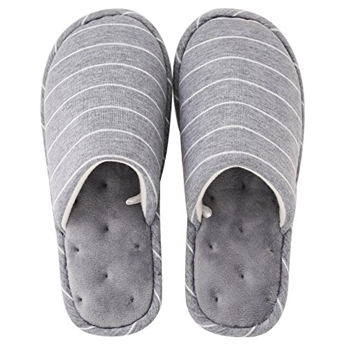Anti Eagsouni Slippers Slippers Warm Plush 2grey Slip Winter Bedroom Fluffy Indoor Faux qrwTCInr