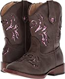 Roper Toddler-Girls' Glitter Breeze Cowgirl Boot Square Toe Brown 6 D