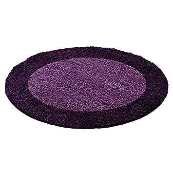 NAZAR Tapis rond Life Shaggy - Violet - 120cm de diametre: Amazon.fr ...
