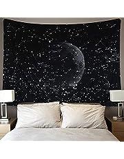 Dremisland Galaxy Sterrenbeeld Wandtapijten Indiase Hippie Boheemse Mandala Wandtapijten Muur Opknoping Maan Tapijt Zwart voor Natuur Woonkamer Slaapkamer Slaapzaal Decor