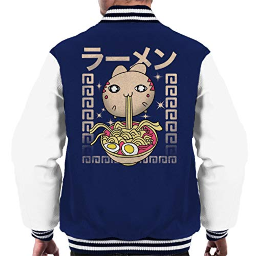 Cloud Hungry With City white Men's Navy 7 Varsity Jacket Cat Ramen qnfqxrE4w