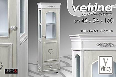 Credenza Con Vetrina Shabby : Gicos vetrina vetrinetta h bianca shabby chic