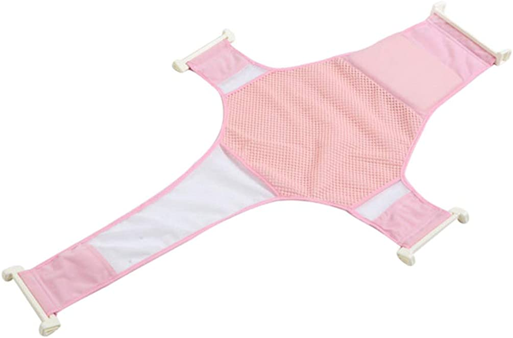 LINNUO Asiento Ba/ño del Beb/é Hamaca de Ba/ño Reci/én Nacido Red de Soporte para Ba/ñera Ba/ño de Seguridad Accesorios de Ba/ño Beb/é Pink