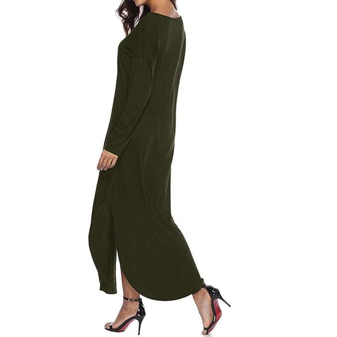 Vestido de Manga Larga,BBestseller Cóctel Fiesta Falda Diario Playa Vestir, Otoño e Invierno