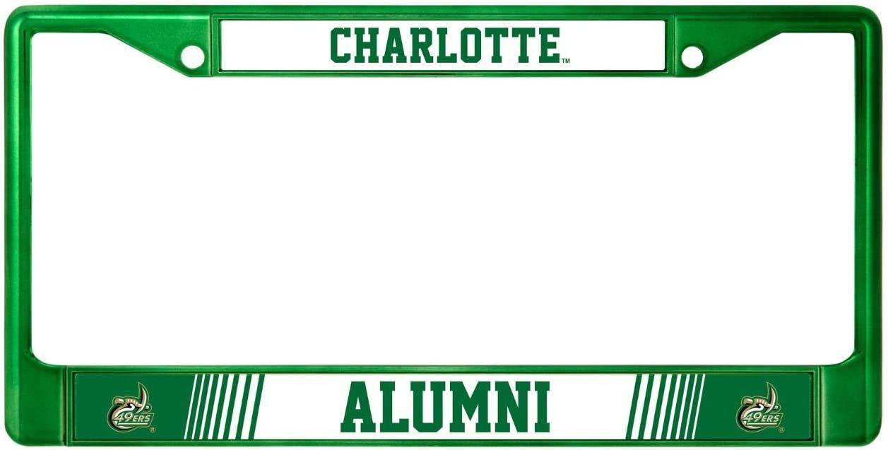 Rico UNC Charlotte 49ers Alumni Metal License Plate Frame