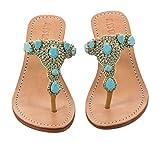 Mystique turquoise mini wedge sandals (6245mw) (10)