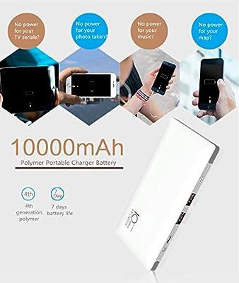 Amazon.com: Cargador portátil, de batería 10000 mAh Power ...