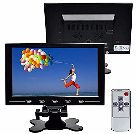 BW 10' inch LCD Color Multimedia Monitor CCTV Monitor with HDMI/AV/VGA/BNC Inputs for PC CCTV Camera Security DVR System (Highlight LED/CCFL Lamps, 300cd/M2, 800*600 Resolution) BW Corp BW101M