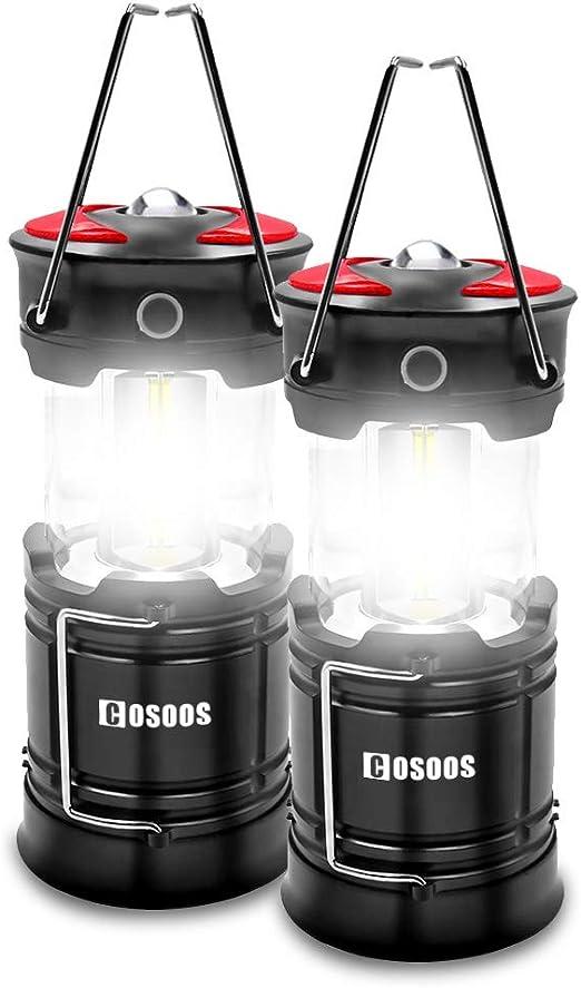 2 Pack Camping Lantern 6 AA Batteries Magnetic Waterproof Shockproof LED 500 Lu