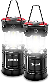 Hiking 4 Lighting Mode Hurricane Charging Cables Included Best for Outdoor COSOOS LED Lantern Flashlight with Built in Battery Power Outage Emergency 2 Pack Rechargeable Camping Lanterns