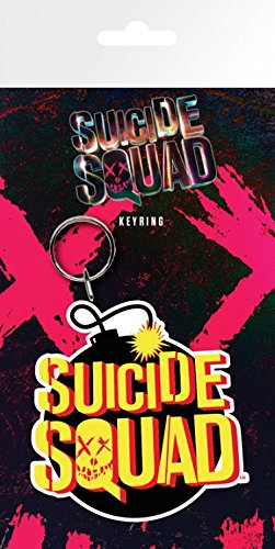 1art1 Suicide Squad Keychain Keyring for Fans - Bomb Logo (6 x 3 inches)